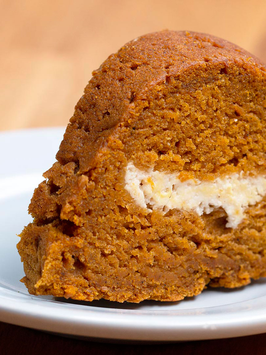 Pumpkin Bread Ring with Maple Cream Cheese Filling